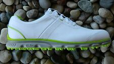2014 FootJoy DryJoys Casual Golf Shoe Style #53655 White/Lime Spikeless