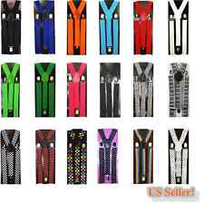 Boys Girls Kids Fashion Clip-on Suspenders Elastic Y-Shape Adjustable Braces