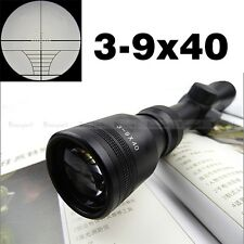 Pro 3-9x40 Mil Dot Air Rifle Gun Hunting Scope Telescopic Sight + 11/21MM Mounts