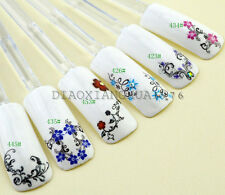 3D Beauty Color Cute Floral Water Transfer Nail Art Decoration Decal Tips XF#