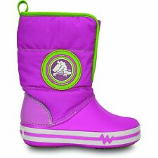 Crocs Kids CrocsLights Gust Boot Party Pink/Volt Green,Lights up with every step