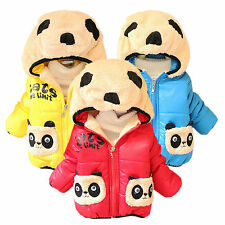 Baby Winter Jackets Girl Boys Kids Hoodies Fleece Animal Panda Coats Outerwear