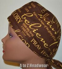 Christian Words & Scriptures Surgical Scrub Cap Hat