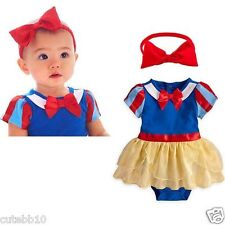 Baby Girl Snow White Fancy Dress Costume Headband Birthday School Party Outfit