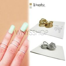Women Ring New Girl Mini Gold Sharp 1 Set 16 Finger Rings Small and Big Size Hot