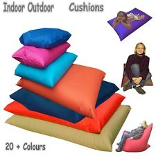 Bean Floor Cushions Indoor Outdoor 7 Sizes Comes Filled 18 Colours Made in UK