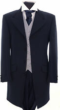 MJ-76 MENS NAVY HERRINGBONE PRINCE EDWARD SUIT FORMAL / WEDDING / DRESS