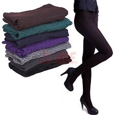 Womens Knit Winter Leggings Fashion Footed Warm Cotton Stockings Thick Tights