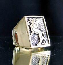 RECTANGLE BRONZE SIGNET RING GRIFFIN GRIFFON GRYPHON MEDIEVAL ANTIQUED ANY SIZE