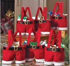 SANTA PANTS CHRISTMAS GIFT TREAT BAG STOCKING FILLER