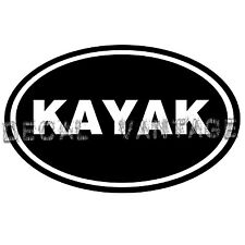 Kayak Vinyl Sticker Decal Euro Oval Rapids Canoe White Water Choose Size & Color