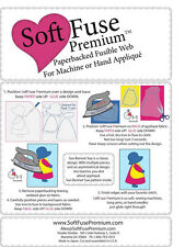 """Shades Textiles Soft Fuse SoftFuse Premium Fusible Web for Applique 37""""x3yd Roll"""