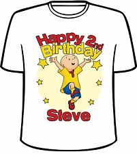 Many Tee Colors- Personalized Caillou Birthday T-Shirt