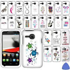 Hard Protector Case Cover For Alcatel One Touch Evolve 5020T Phone, Owl + Tool
