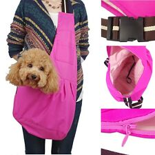 Pet Dog Cat Carrier Single-shoulder Sling Stroller Bag Tote Mesh Travel Pouch