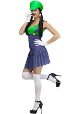 Brand New Luigi Lady Pretty Plumber Adult Costume (Green)