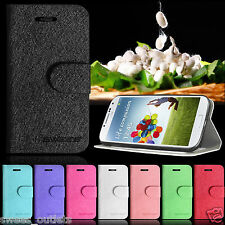 Premium Wallet Leather Case Cover For Samsung Galaxy S4 I9500 Free Screen Film