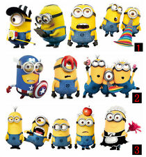 For Despicable Me Minions Movie  auto Stickers Vinyl Decals Decor Art Kids Room