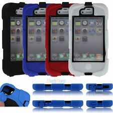 Waterproof Heavy Duty Military Survivor Case Cover for iPhone 4 4S + Belt clip