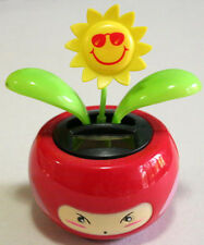 Flip Flap Solar Powered Toy in Red Character Flower Pot.