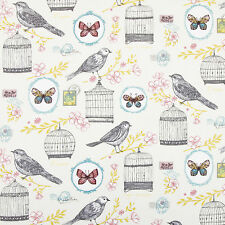Birdcage & Butterfly Multi Colour Floral Oilcloth Wipeclean PVC Vinyl Tablecloth