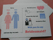 'Will You Be My' Girl meets Boy  Cards  & Envelope -  Personalised