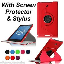 360 Case Cover for Dell Venue 8 Android Tablet + Screen Protector +G Stylus Red