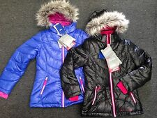 NWT* FREE COUNTRY GIRLS' SNOWSTAR DOWN JACKET Coat Fur Hooded Size 10/12,14