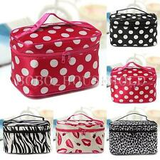 Beauty Cosmetic Make Up Bag Case Travel Toiletry Wash Case Holder Handbag Mirror