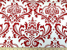 Discount Fabric Premier Prints Traditions Lipstick Red and White PR06