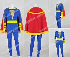 Captain Marvel Cosplay Jr Junior Freddy Freeman Costume Blue Jumpsuit Well Made