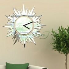 Sun Modern Acrylic Plastic Mirror Wall Home Decal Decor Clock Arts Stickers