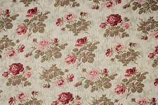 French Floreale Biancheria Old Rose Curtain / Craft tessuto