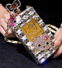 Perfume Bottle Bling Crystal Hello Kitty TPU Chain Cover Case for iPhone 4S 5 5S