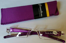 Folding Reading Glasses with soft matching case +1.00, +1.50 +2.00, +2.50