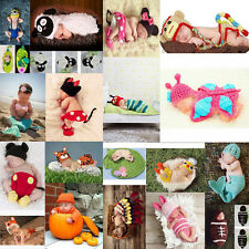 Newborn Unisex Baby Boys Girls Crochet Knitted Photography Props Costume Clothes
