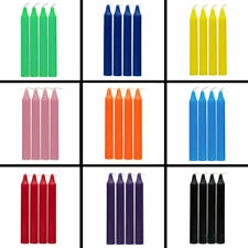 "Spell Candles 4"" Lot of 4 - Choose from 12 Colors! Mini Taper Chime Candle Magic"