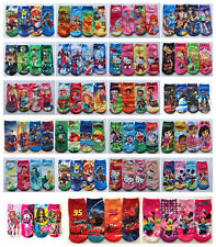 4x Kids Cartoon Cotton Socks Disney Frozen Princess Elsa Anna Pixar Cars