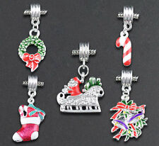 Wholesale Lots Mixed Christmas Dangle Beads Fit Charm Bracelet