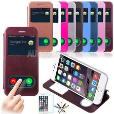 Apple iPhone 6 / 6 Plus Case Smart Window View Leather Stand Flip Hard Cover #V9