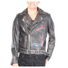 Diesel Leather Jacket L-Sneh Black Men New