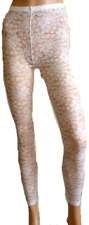 LADIES SEXY ALLOVER FLOWER FLORAL LACY LACE LEGGINGS FOOTLESS TIGHTS S/M M/L NEW