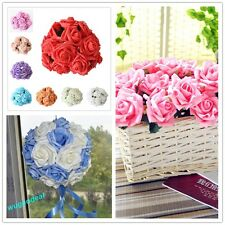 3/6 cm 12-48 Head Beautiful Latex Artificial Rose Flower For Diy Bouquets Bridal