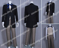 The First Doctor Costume Who is 1st Dr William Hartnell Suit+Vest+Shirt+Pants