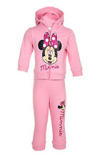 Disney Minnie Mouse Girls Pink Two Piece Pants and Hoodie Clothing Set