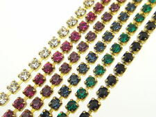Austrian Crystal Rhinestone Chain 2mm (14pp) Classic Colors 3 Feet
