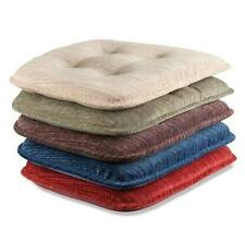 SET OF 2 Indoor DINING KITCHEN TUFTED NON SLIP CHAIR CUSHION PAD 5 Color Choices