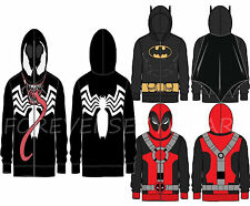 Men Marvel DC Comic Book Long Sleeve Zipup Hoodie Jacket Sweatshirt Full Mask