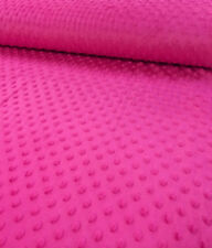 "High Quality / 60"" Wide Soft Chenille Minky Dot Fabric / Sold by the yard"