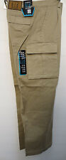 KHAKI CARGO PANTS 6 POCKET NWT 30 TO 54 WAIST SIZES WITH 30 INSEAM  WORK CASUAL